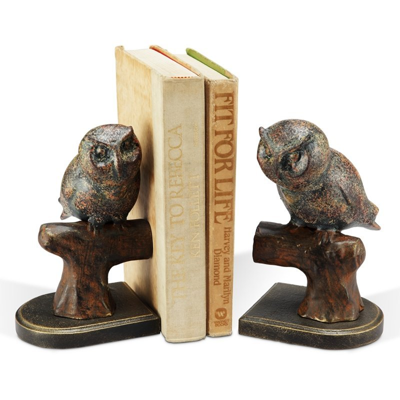 ROOSTING OWL BOOKENDS