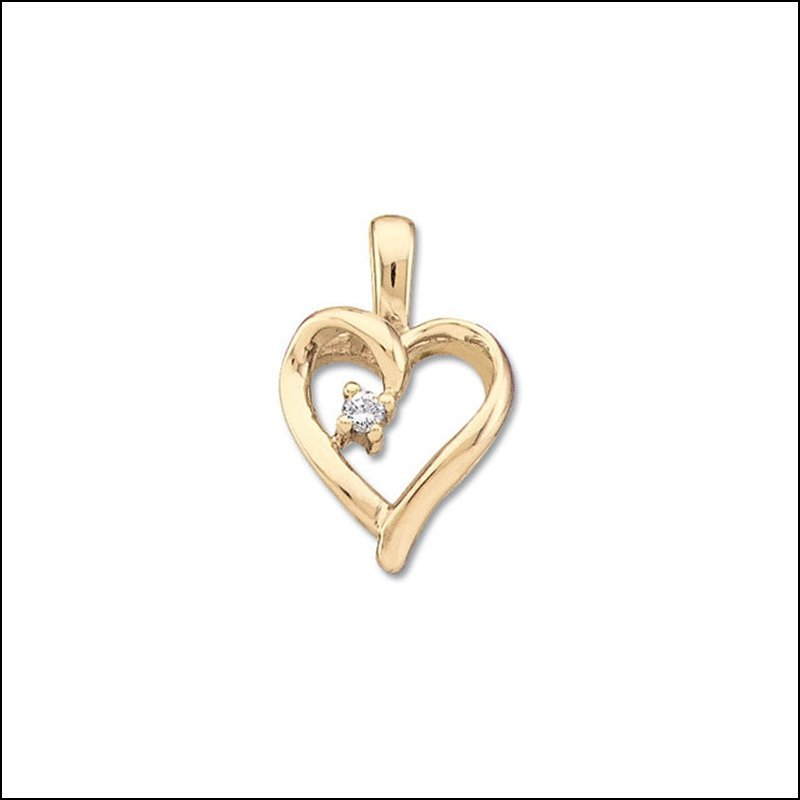 .02 CT TW DIAMOND HEART PENDANT