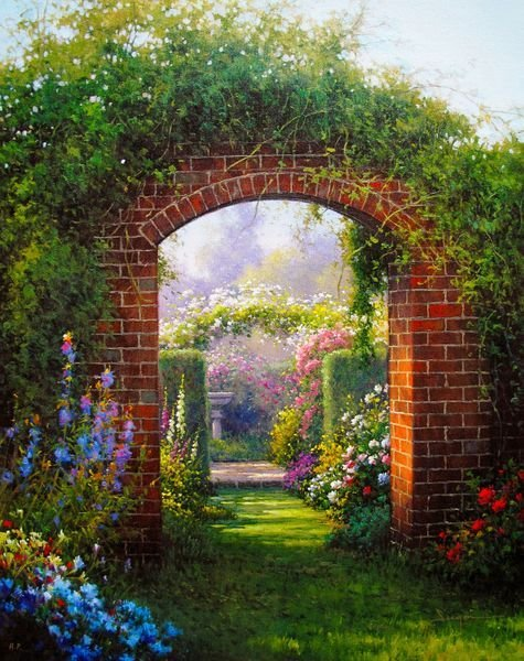 SERGON GARDEN ARCHES HAND SIGNED LIMITED ED. GICLEE ON