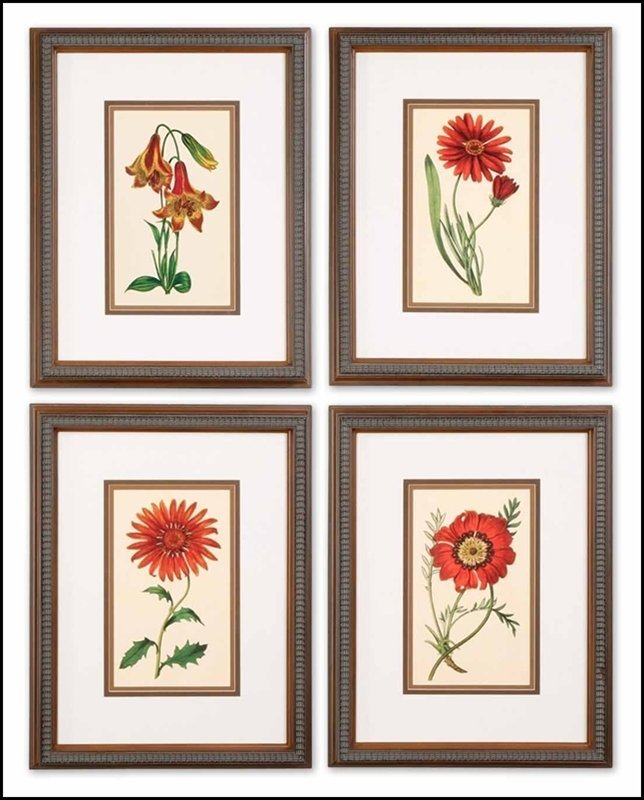 TRADITIONAL BOTANICALS ART SET/4