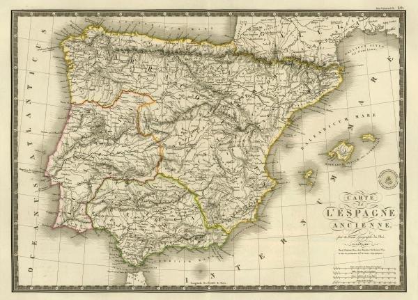 ADRIEN HUBERT BRUE - ESPAGNE ANCIENNE, 1827