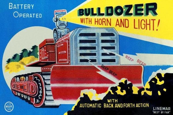 RETROTRANS - BATTERY OPERATED BULLDOZER WITH HORN AND