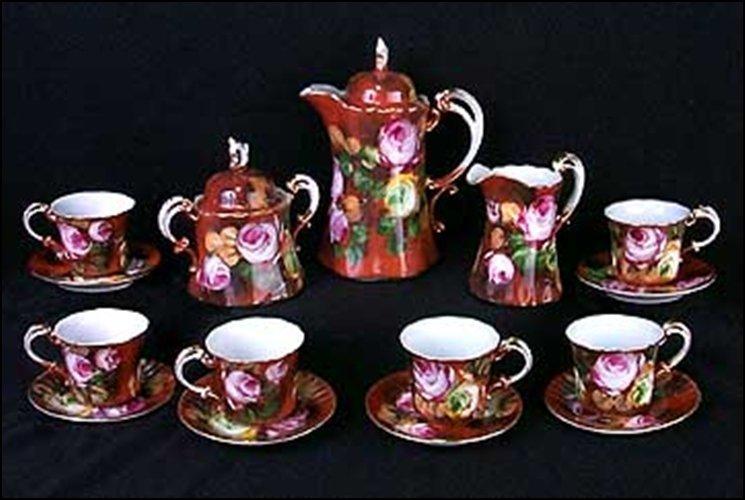 TEA SET - 15PC - DIMENSIONS:  9.00H 5.00W 5.00D