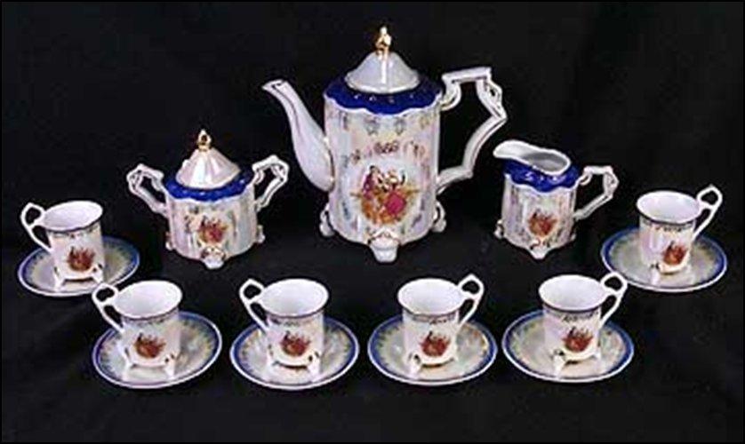 IRIDESCENT ROMANCE TEA SET (15 PCS) - DIMENSIONS: