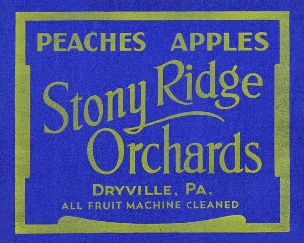 UNKNOWN - STONY RIDGE ORCHARDS PEACHES & APPLES