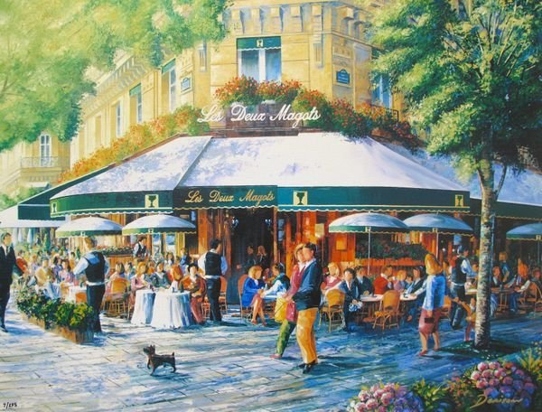 GRAHAM DENISON CAFE SOCIETY PARIS, LES DEUX MAGOTS HAND