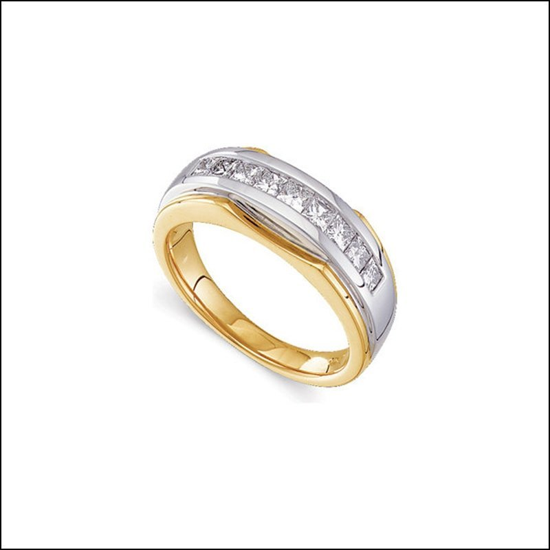 1 CT TW TWO TONE DIAMOND MEN'S RING