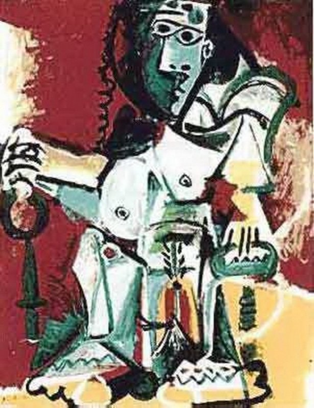#107 SITTING FIGURE PICASSO ESTATE SIGNED GICLÉE