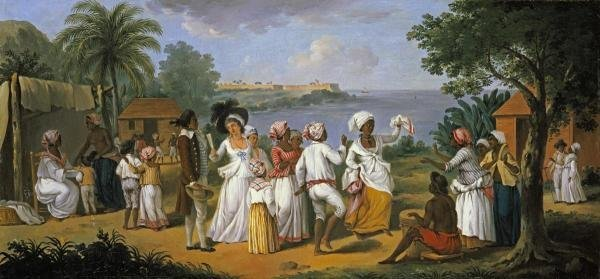 AUGUSTIN BRUNAIS - NATIVES DANCING IN THE ISLAND OF