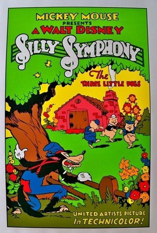 WALT DISNEY SILLY SYMPHONY THE THREE LITTLE PIGS