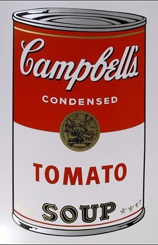 ANDY WARHOL  SUNDAY B. MORNING  TOMATO SOUP CAN