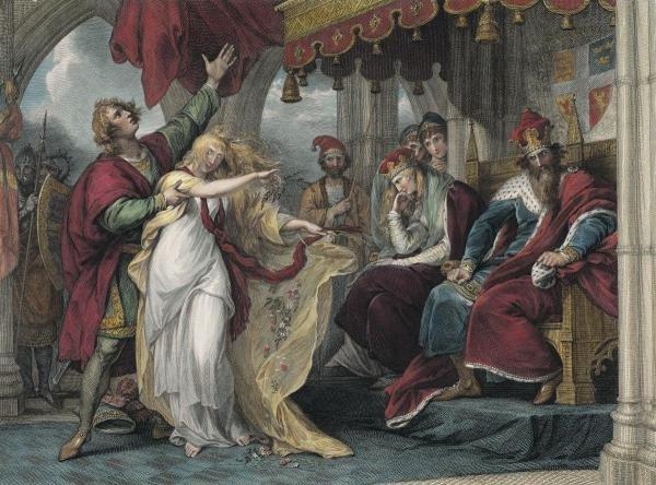 BENJAMIN WEST - HAMLET, ACT IV SCENE V