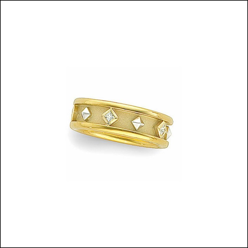 1/6 CT TW DIAMOND ETRUSCAN-INSPIRED BAND