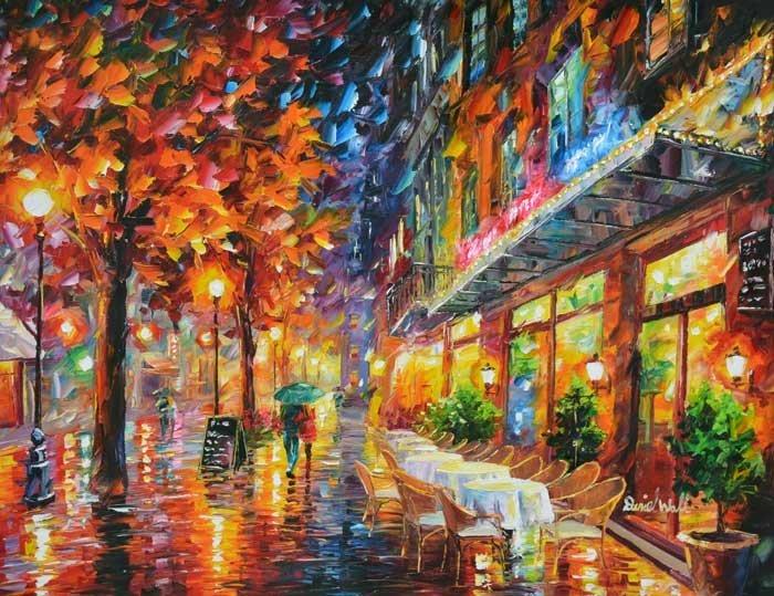 ORIGINAL DANIEL WALL-CAFÉ AT NIGHT