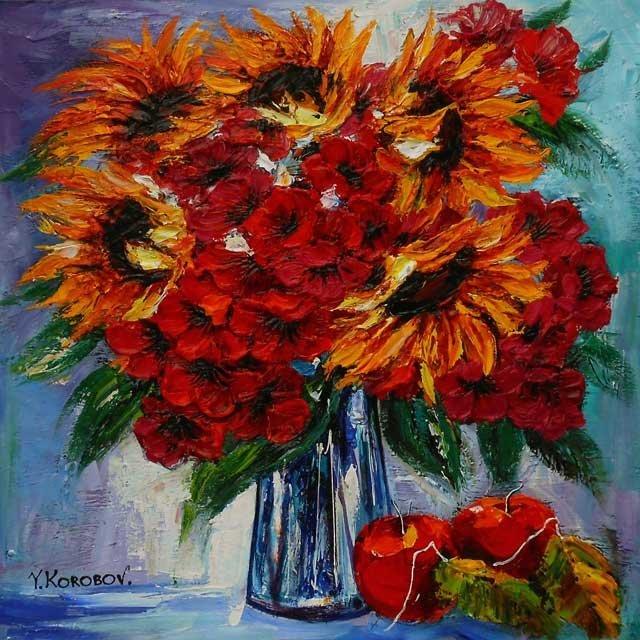 ORIGINAL YANAH KOROBOV-FRUIT BY THE FLOWERS