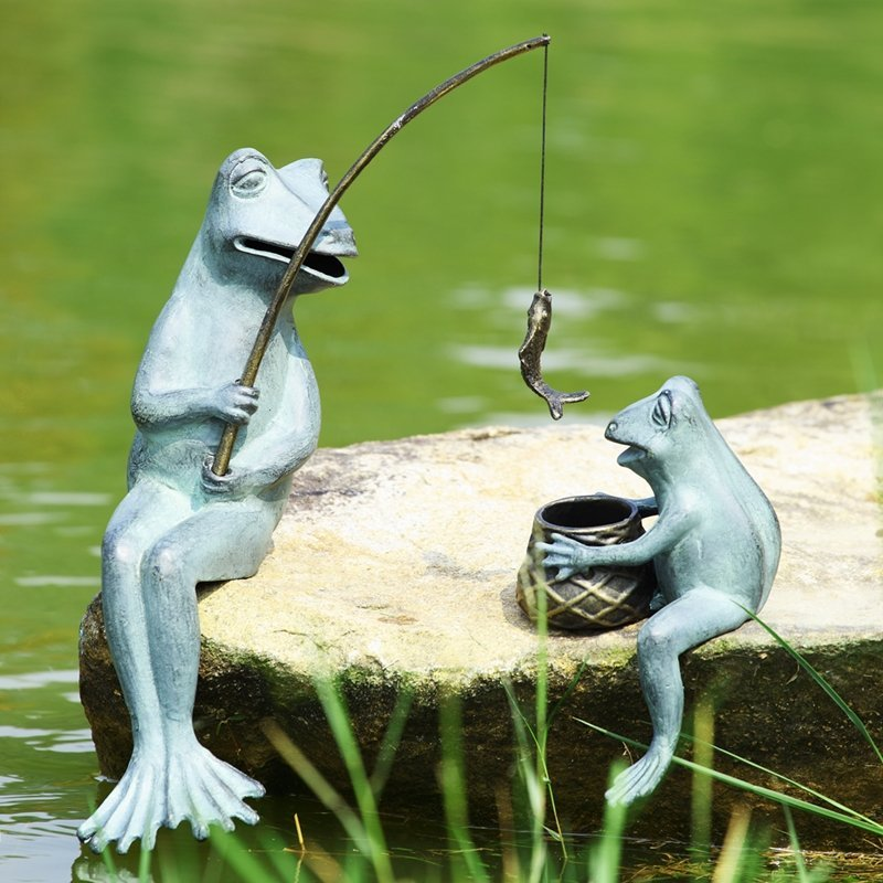 FISHING FROG MAMA & BABY GARDE