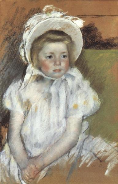 MARY CASSATT - SIMONE IN A WHITE BONNET 1901