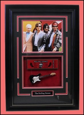 The Rolling Stones Collage With Mini Guitar