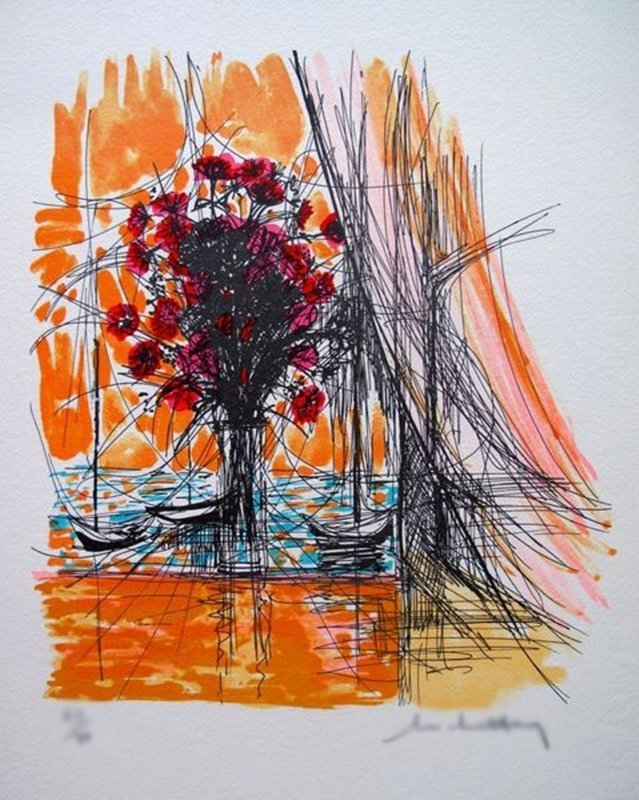 MICHEL HENRY FLOWERS WITH BOATS III LIMITED ED. HAND