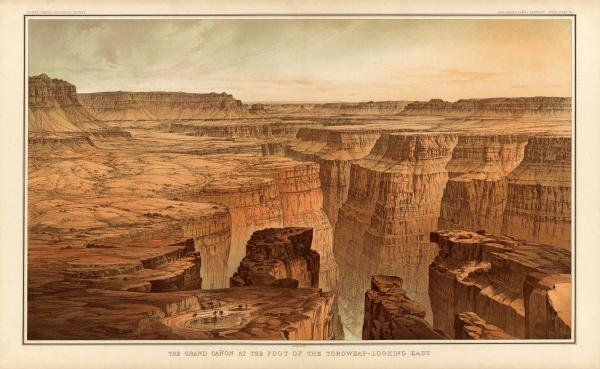 WILLIAM HENRY HOLMES - GRAND CANYON - FOOT OF THE