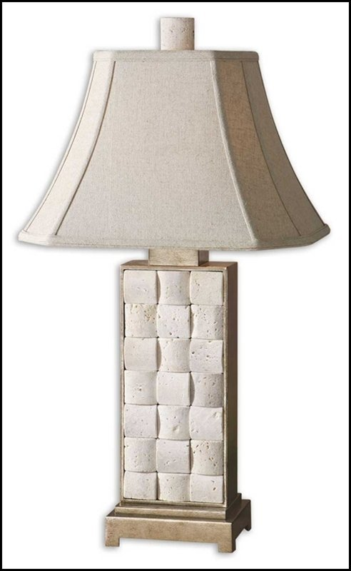 TRAVERTINE TABLE LAMP