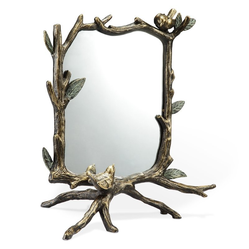 LEAF AND BRANCH TABLE MIRROR