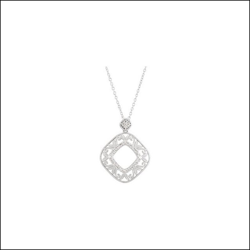 "1/6 CT TW DIAMOND 18"" NECKLACE"