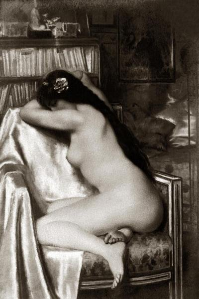 VINTAGE NUDES - ASLEEP IN THE STUDY