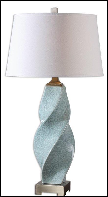 GIRATA TWISTED CERAMIC LAMP