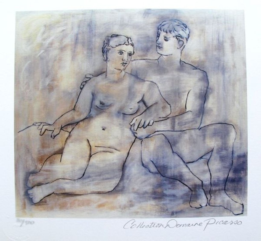 PABLO PICASSO LOVERS ESTATE SIGNED LIMITED ED. SMALL