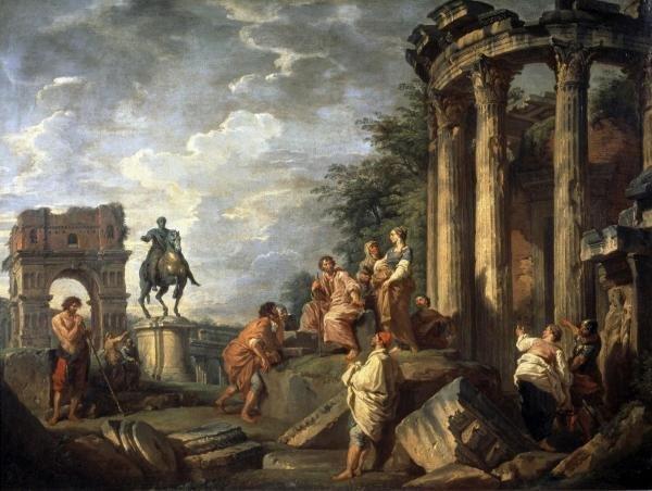 GIOVANNI PAOLO PANINI - RUINS OF ARCHITECTURE