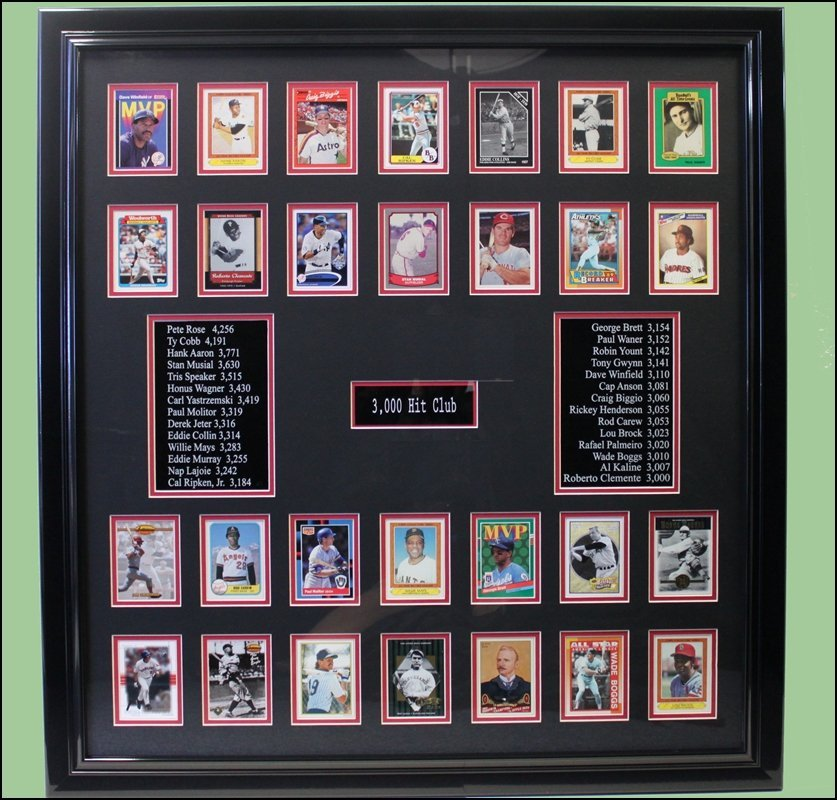 Baseball Card Collage - 3000 Hit Club
