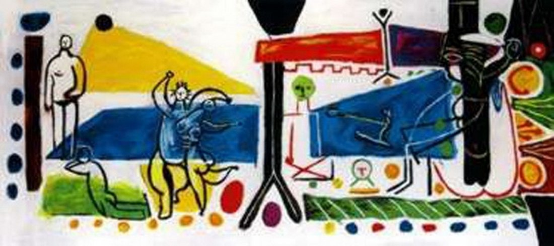 #38 THE FAMILY PICASSO ESTATE SIGNED GICLÉE