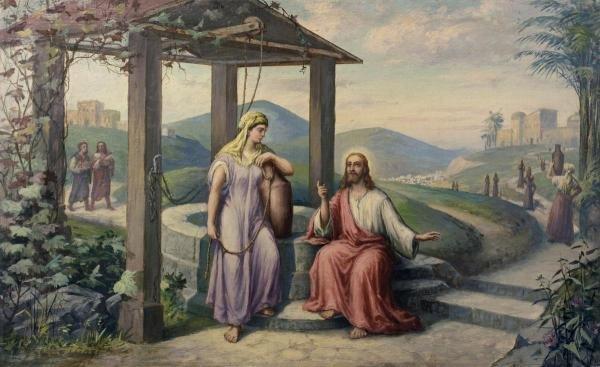 F.R. BOGDAN - CHRIST & THE SAMARITAN WOMEN