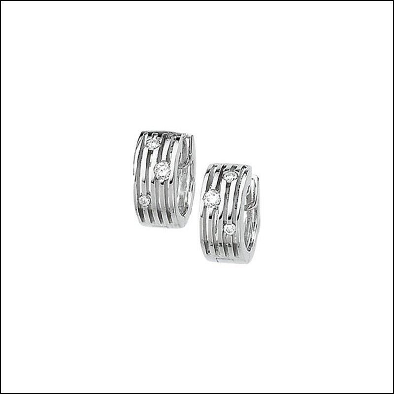 1/5 CT TW MULTI-ROW HINGED DIAMOND EARRING
