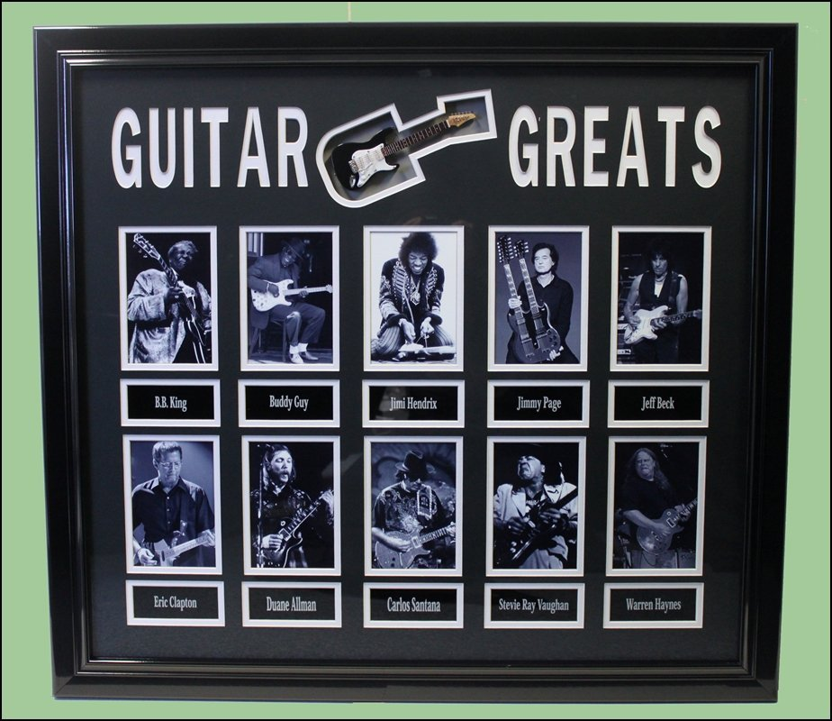 Guitar Greats Collector Collage