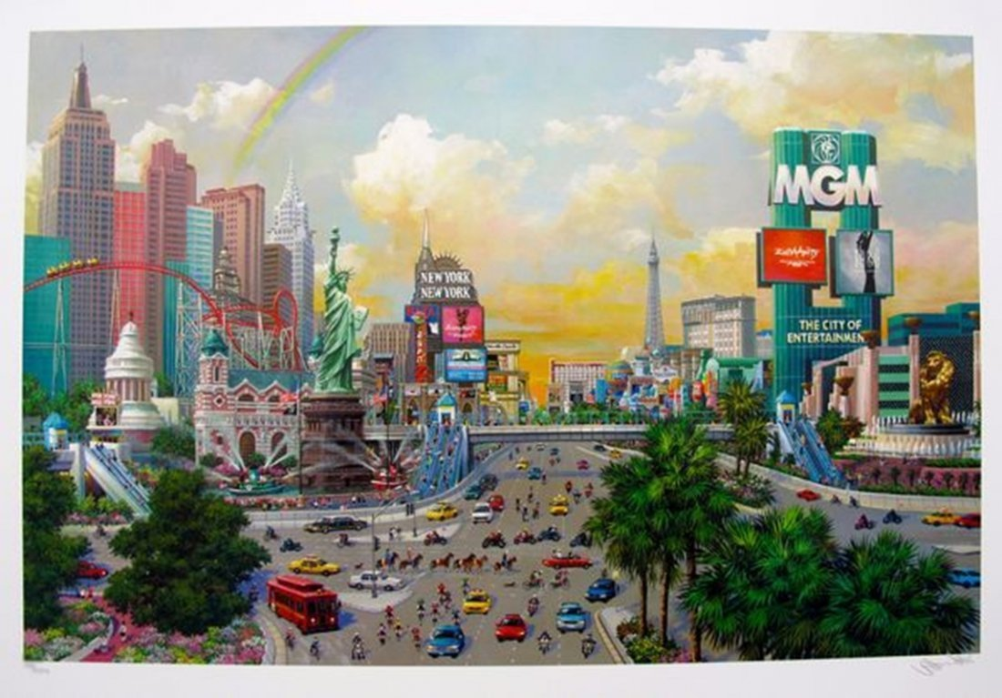 ALEXANDER CHEN THE LAS VEGAS STRIP LIMITED ED. HAND