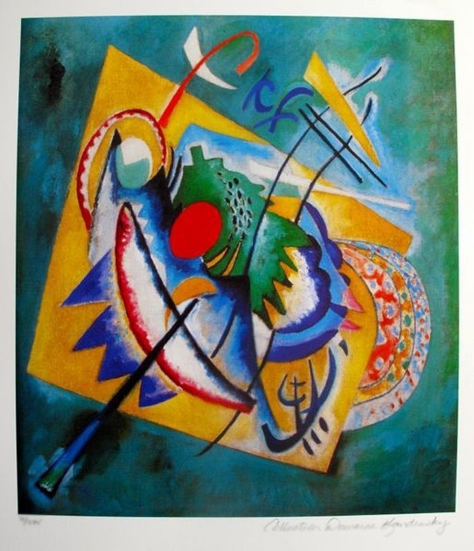 WASSILY KANDINSKY RED OVAL ESTATE SIGNED LIMITED ED.