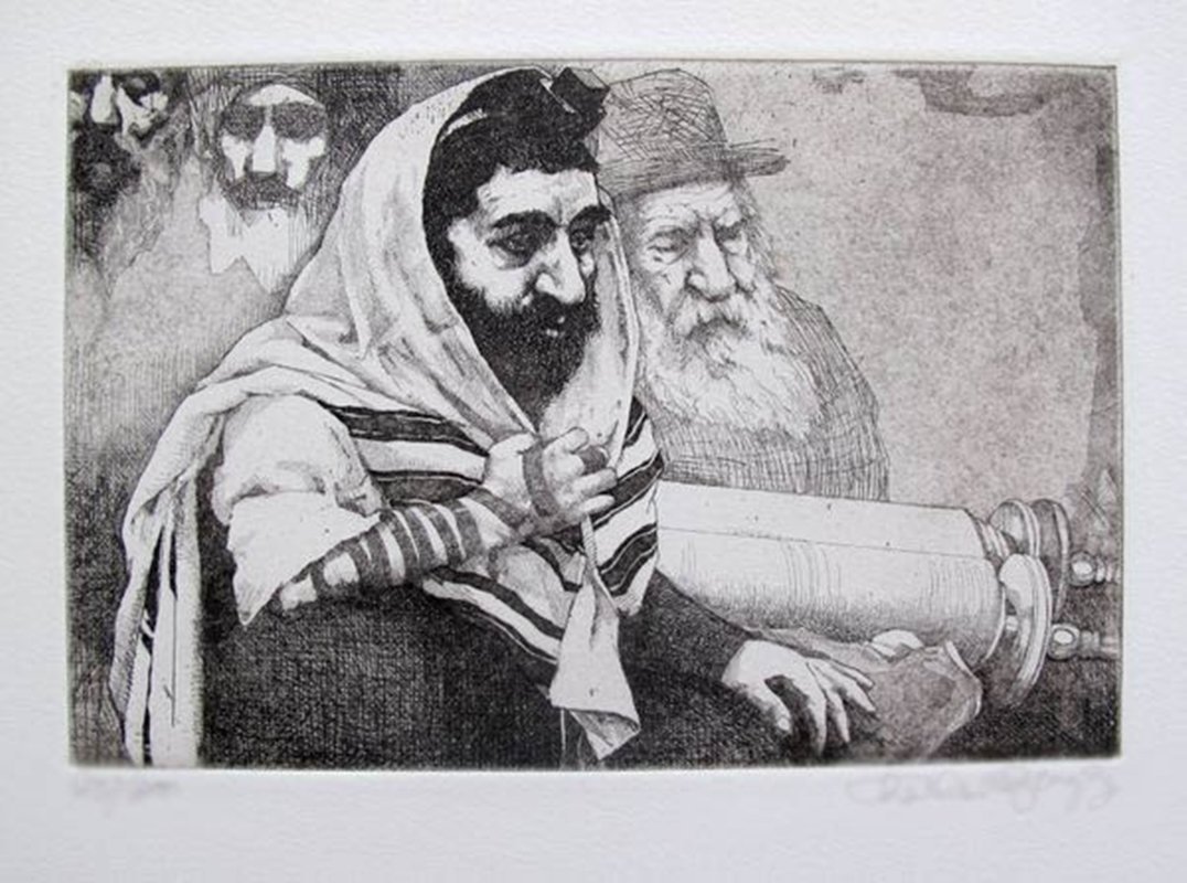 CHARLES BRAGG TORAH HAND SIGNED LIMITED ED. ETCHING
