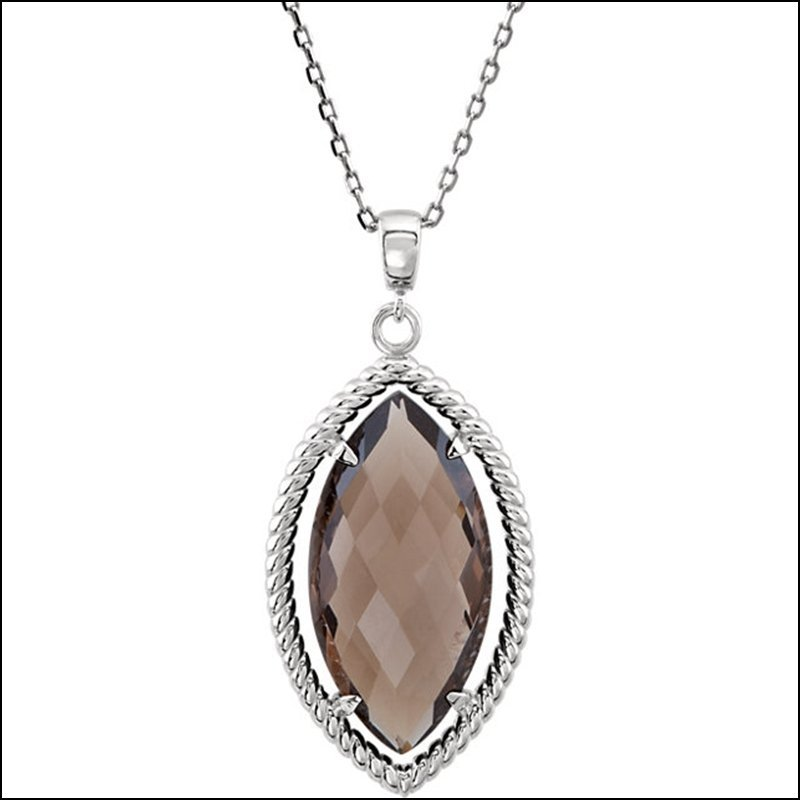 MARQUISE SHAPED DANGLE PENDANT OR NECKLACE