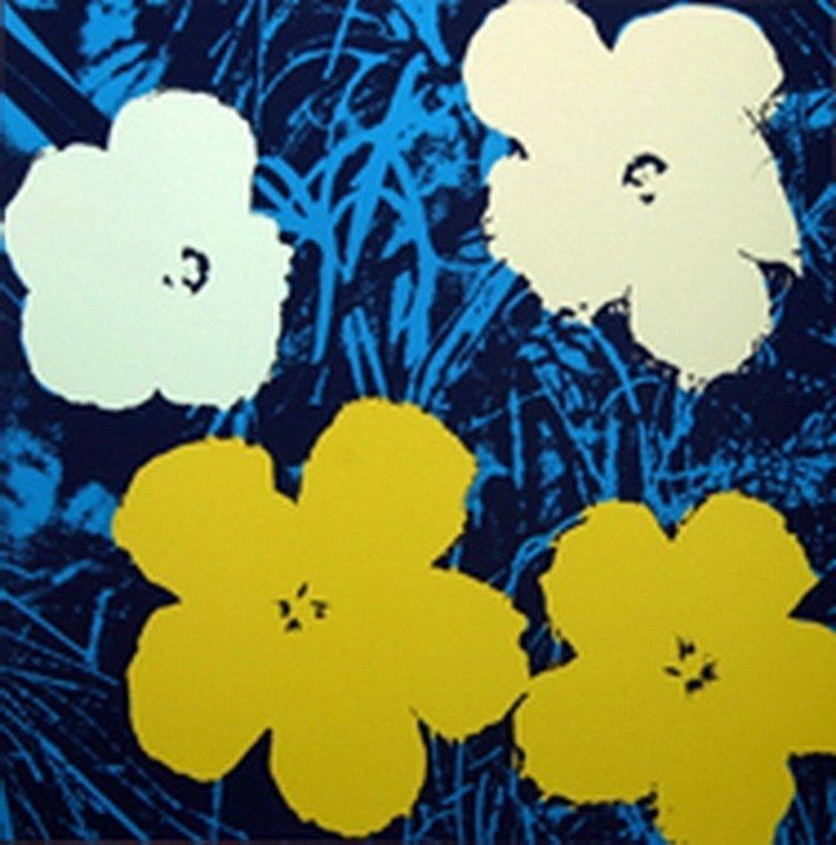 ANDY WARHOL  FLOWERS  SUNDAY B. MORNING