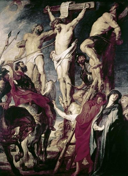 PETER PAUL RUBENS - CHRIST ON THE CROSS BETWEEN THE TWO