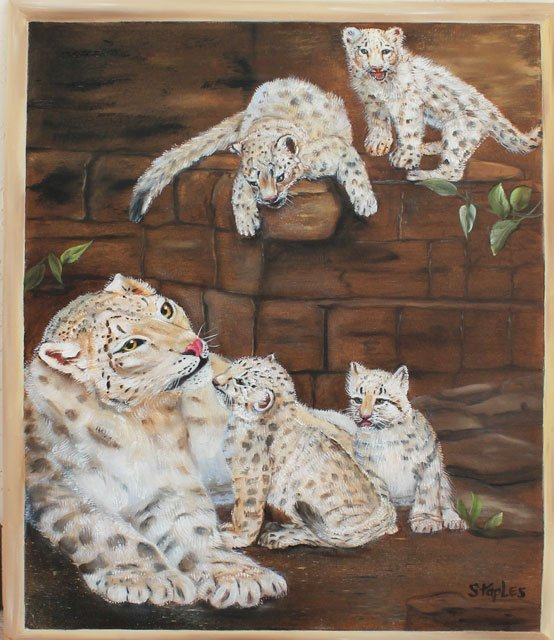 ORIGINAL LOIS MARIE STAPLES - MOMMA AND CUBS