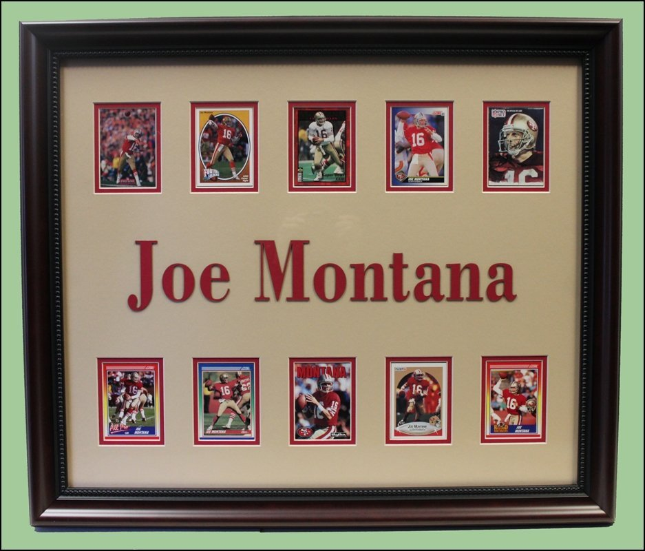 Joe Montana Football Card Collage