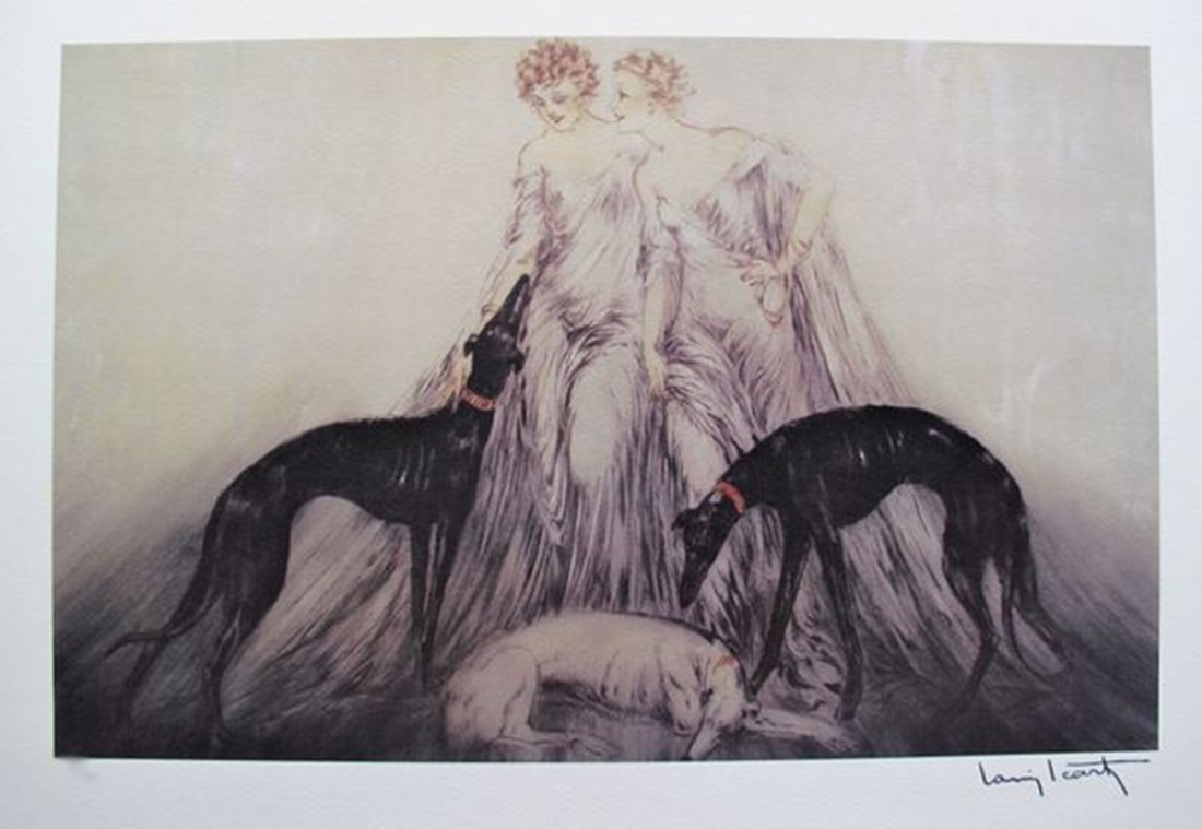 LOUIS ICART COURSING III LIMITED ED. GICLEE