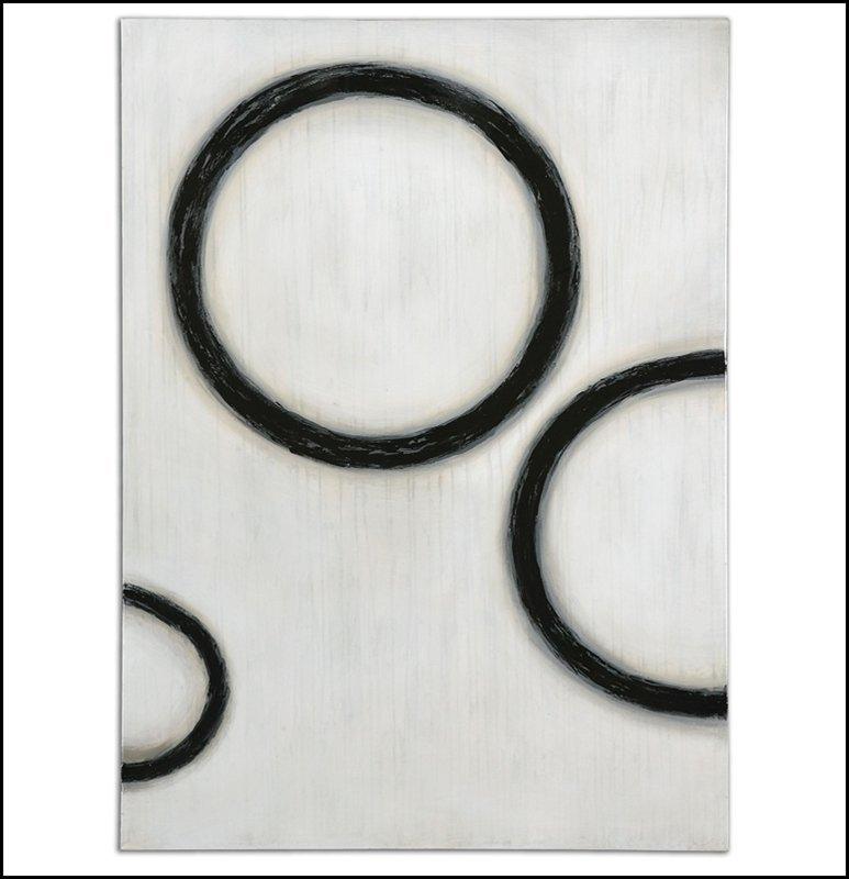 DARK CIRCLES MODERN ART