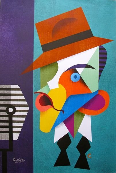 """DAVID COWLES """"FRANK SINATRA"""" HAND SIGNED LARGE GICLEE"""