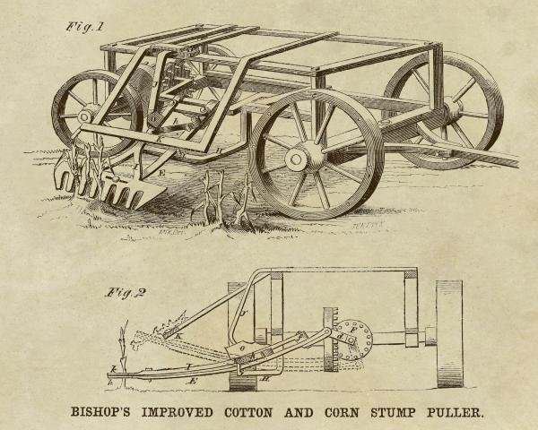 INVENTIONS - BISHOP'S IMPROVED COTTON AND CORN STUMP
