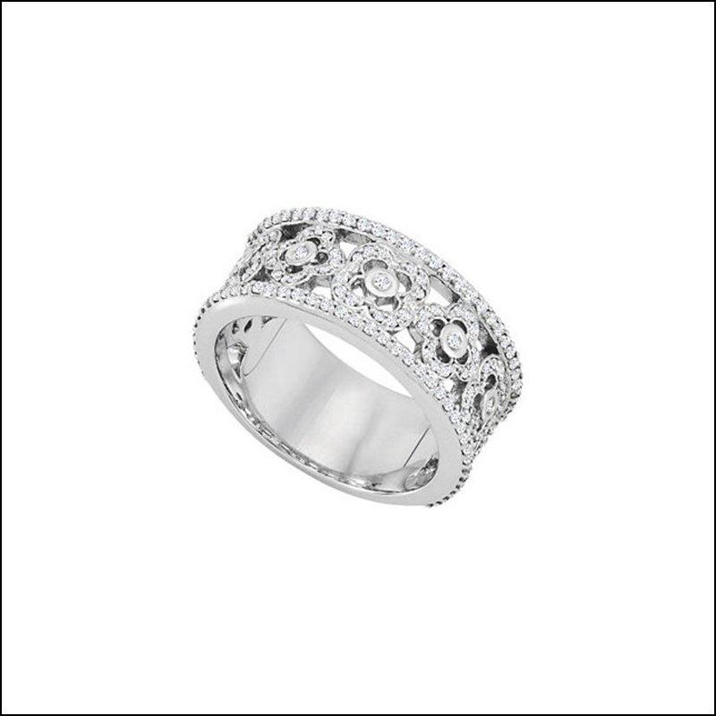 3/4 CT TW DIAMOND ETRUSCAN INSPIRED ANNIVERSARY BAND