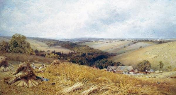 WILLIAM W. GOSLING - A HOT DAY IN THE HARVEST FIELD